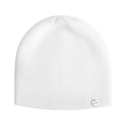 Купить белую хлопковую шапку