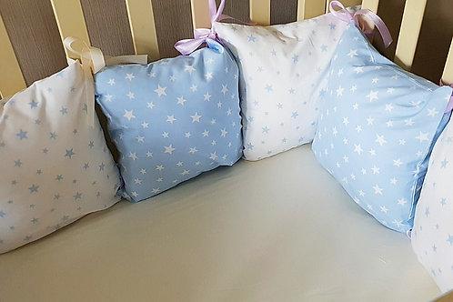 Бортики для новорожденных в кроватку со съемными чехлами купить