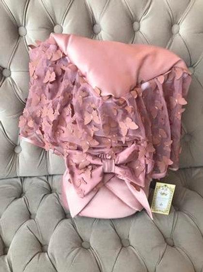 Конверт-одеяло на выписку с бабочками купить