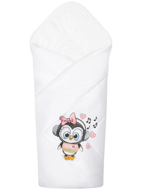 """Конверт-одеяло на выписку """"Пингвиночка"""" купить в интернет-магазине"""