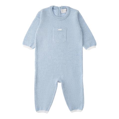 купить вязаный комбинезон для новорожденного мальчика незабудка