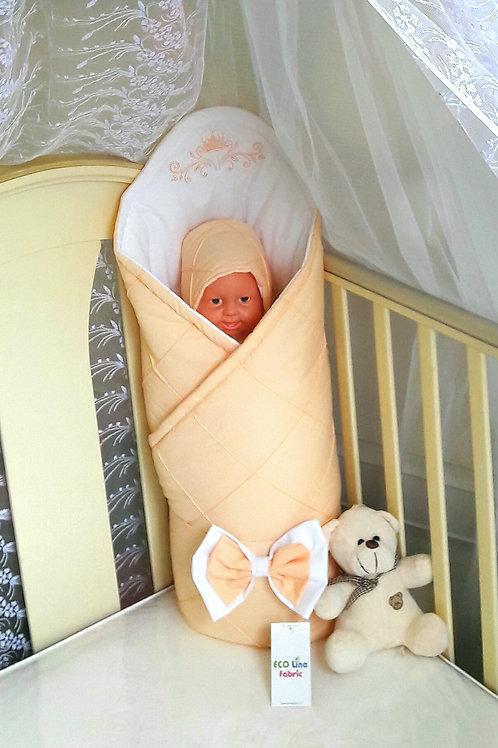 Конверт-одеяло на выписку из роддома Odelis - peach