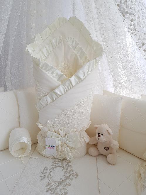 Конверт для малыша на выписку Margaret кремовый