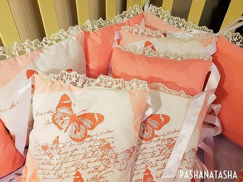 """Бортики и одеяло в кроватку новорожденному """"Вивальди"""""""