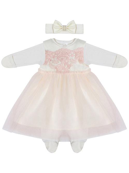 """Платье для новорожденной девочки на выписку """"Каролина"""""""