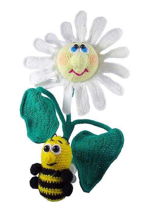 Купить вязаный крючком цветок