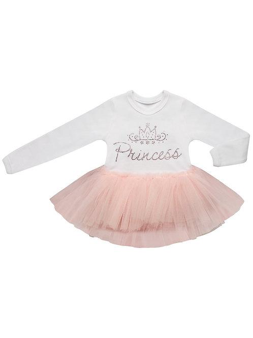 """Боди """"Принцесса"""" с розовой юбочкой из фатина"""