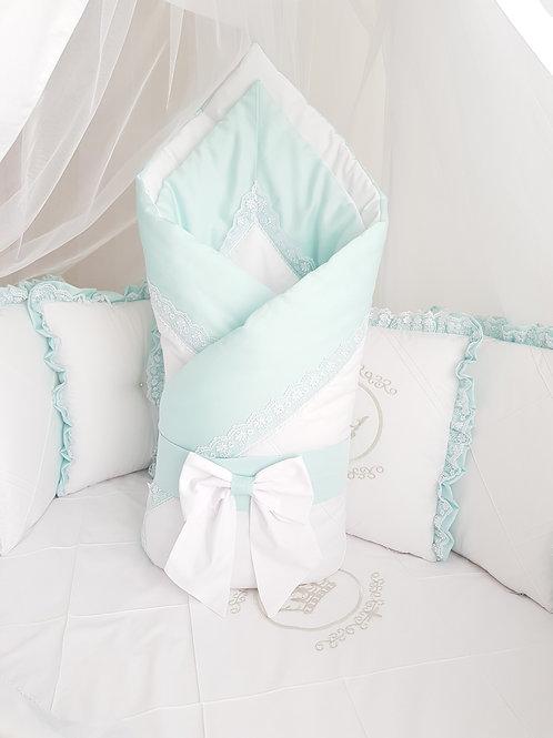 """Конверт-одеяло для новорожденного весна осень""""Amanda"""" mentol"""