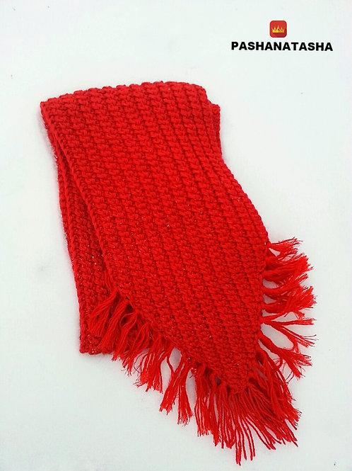 купить красный вязаный шарф в Москве