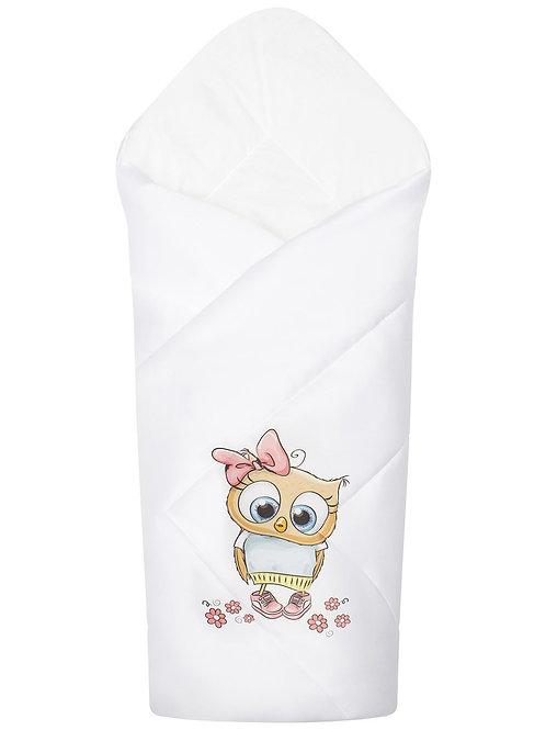 """Конверт-одеяло на выписку для новорожденных""""Совушка"""""""
