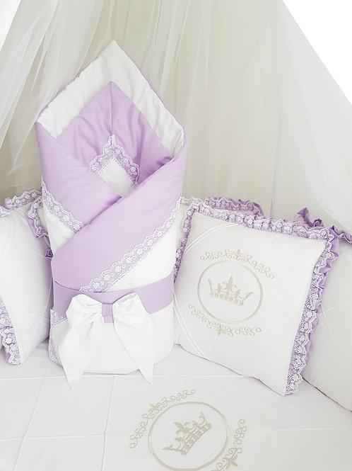 """Конверт-одеяло для новорожденного весна осень""""Amanda"""" сиреневый фото"""