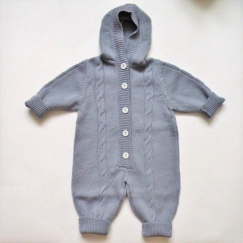 Купить детский вязаный комбинезон Nati Grey (Нати Серый)