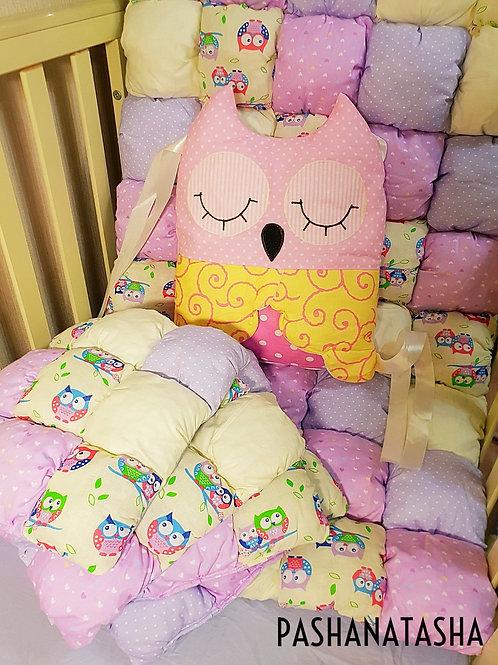 Купить бортики подушки в кроватку для новорожденных в Москве