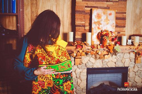 Купить фартук для кормления ребенка в народном стиле