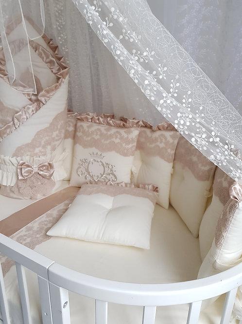 Бортики в круглую кроватку Margaret купить в интернет-магазине www.pashanatasha.ru