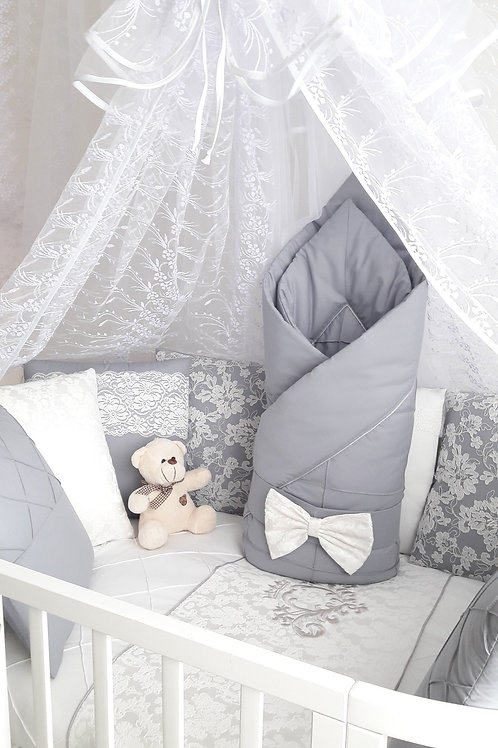 """Детский конверт одеяло для новорожденного на выписку """"Vinsent"""" серый"""