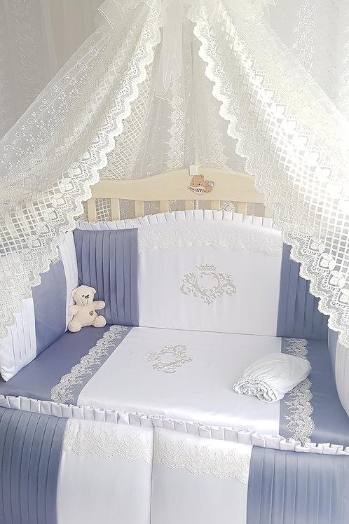 Набор в кроватку для новорожденных с балдахином