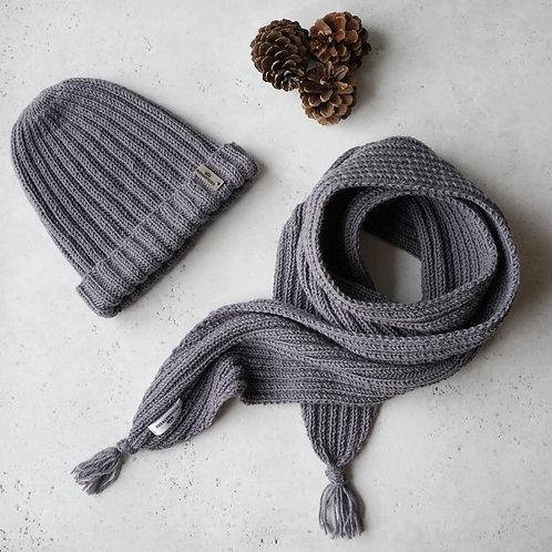Купить мужской комплект шапка и шарф