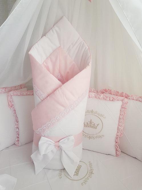 """Конверт-одеяло для новорожденного весна осень""""Amanda"""" pink"""