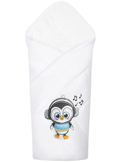 """Одеяло конверт для новорожденного на выписку """"Пингвинёнок"""""""
