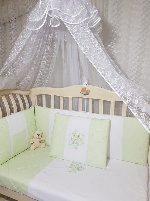 Набор в кроватку для новорожденных интернет-магазин www.pashanatasha.ru