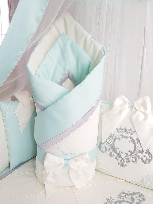 """Детский конверт одеяло для новорожденного на выписку""""Stella"""" mentol"""