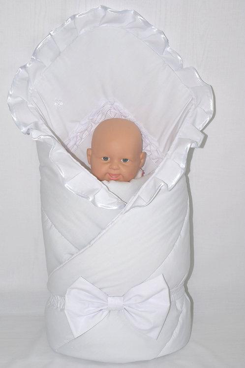 """Белый конверт одеяло на выписку """"Настёна"""""""