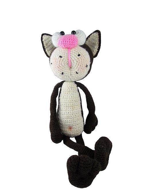 Купить игрушку вязаный кот