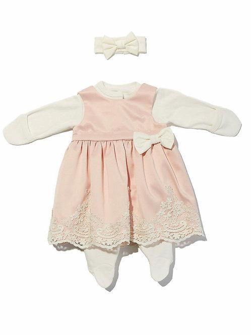"""Платье для девочек новорождённых с комбинезоном """"Принцесса"""""""