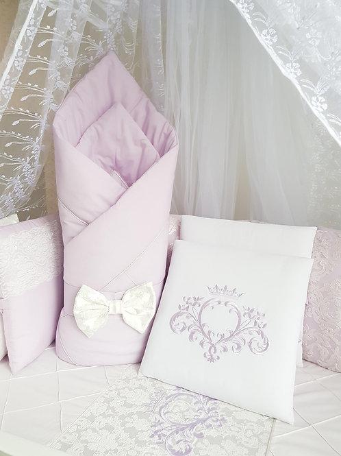 """Детский конверт одеяло для новорожденного на выписку """"Vinsent"""" сиреневый"""
