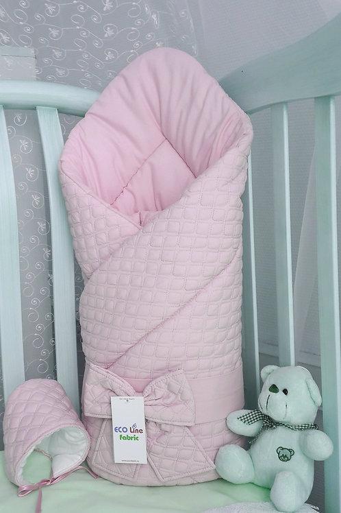 """Одеяло конверт для новорожденногона выписку """"Скандинавия"""" розовый"""