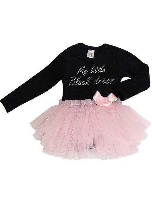 """Купить боди """"My little black dress"""" с розовой юбочкой"""
