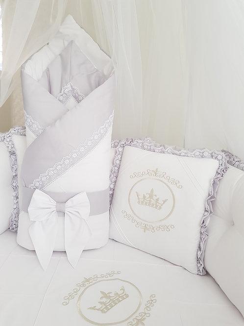 """Конверт-одеяло для новорожденного весна осень""""Amanda"""" grey"""