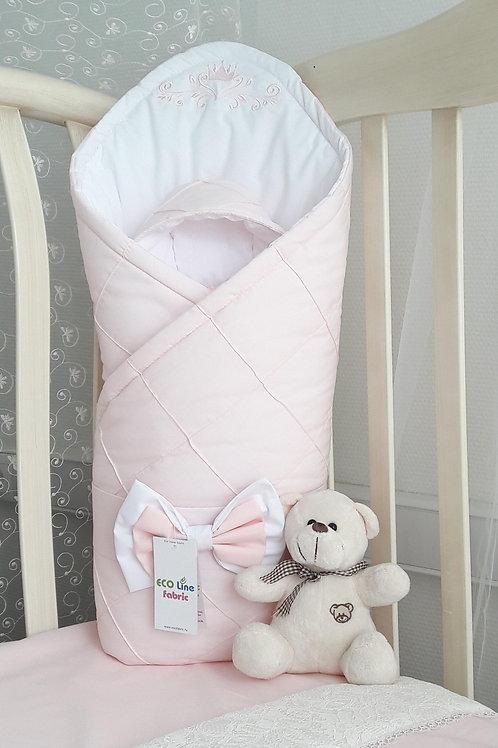 Конверт-одеяло на выписку из роддома для девочки купить