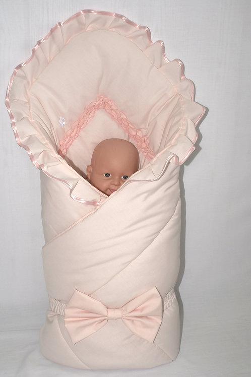 Розовый конверт одеяло на выписку фото