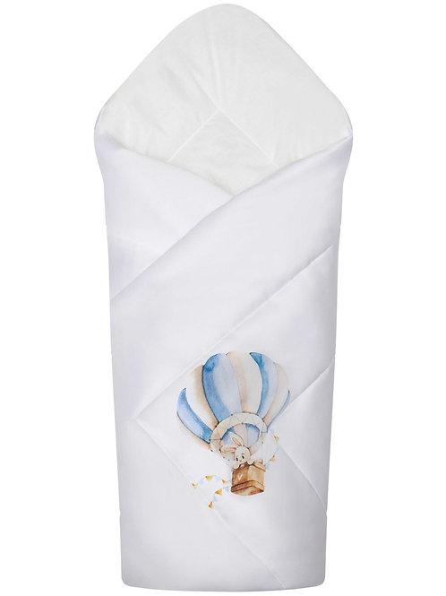 """Одеяло для новорожденных в кроватку """"Зайка на воздушном шаре"""" (конверт)"""