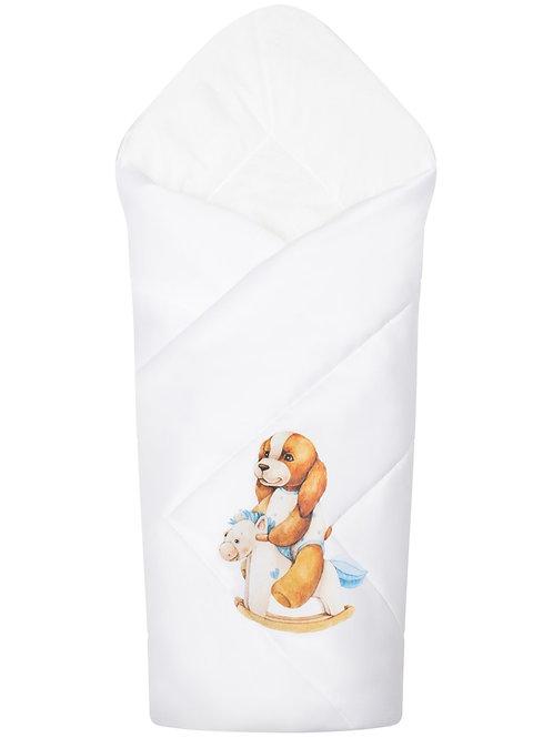 """Одеяло трансформер для новорожденного """"Собачка на качалке"""""""