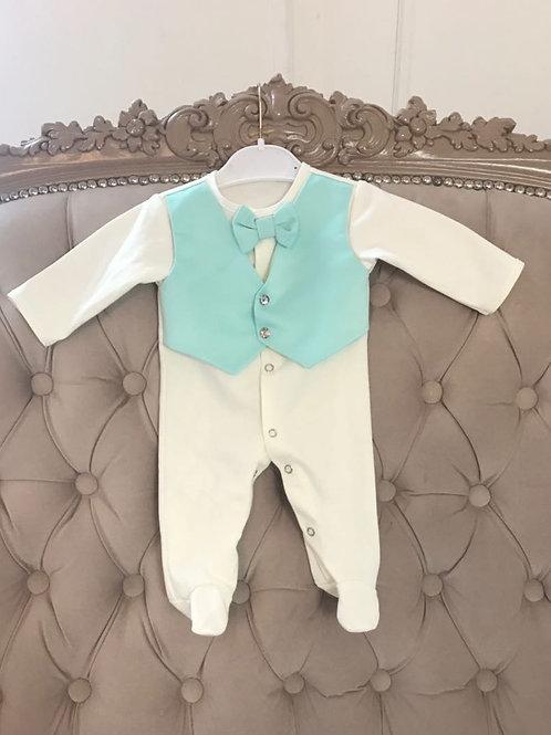Купить комплект для новорожденного цвета тиффани