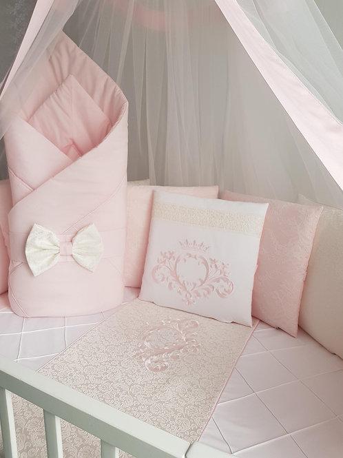 """Детский конверт одеяло для новорожденного на выписку """"Vinsent"""" розовый"""