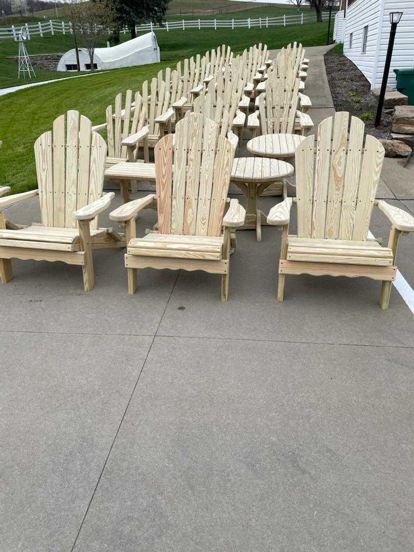 Amish Made Outdoor Adirondack Chairs