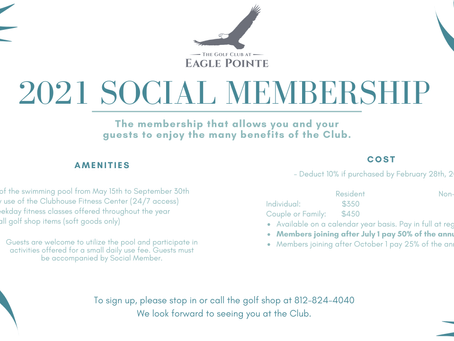 Check out the 2021 Social Memberships