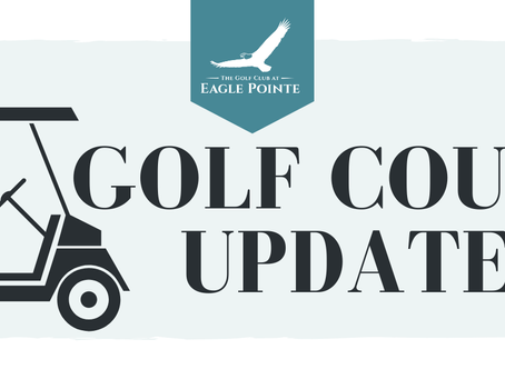 Golf Course Updates- 04/28/2020