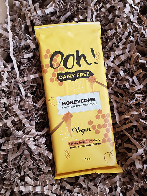 Ooh Chocolata Vegan Honeycomb Chocolate Bar 100g