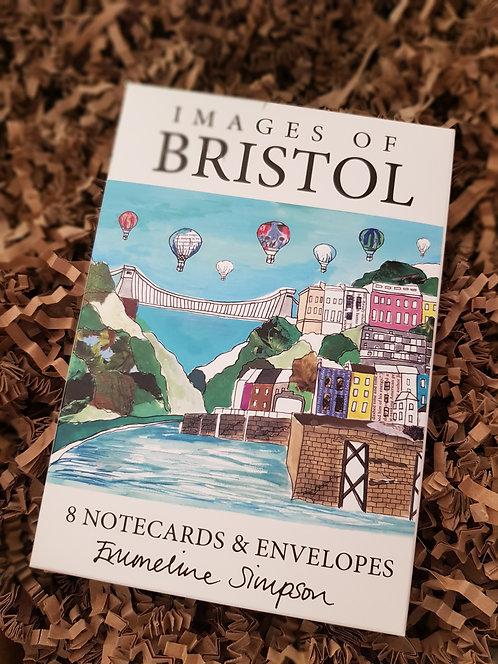 Emmeline Simpson Bristol Views 8 Notecards and Envelopes