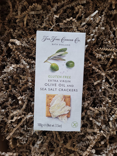 The Fine Cheese Co. Gluten-Free Extra Virgin Olive Oil and Sea Salt Crackers