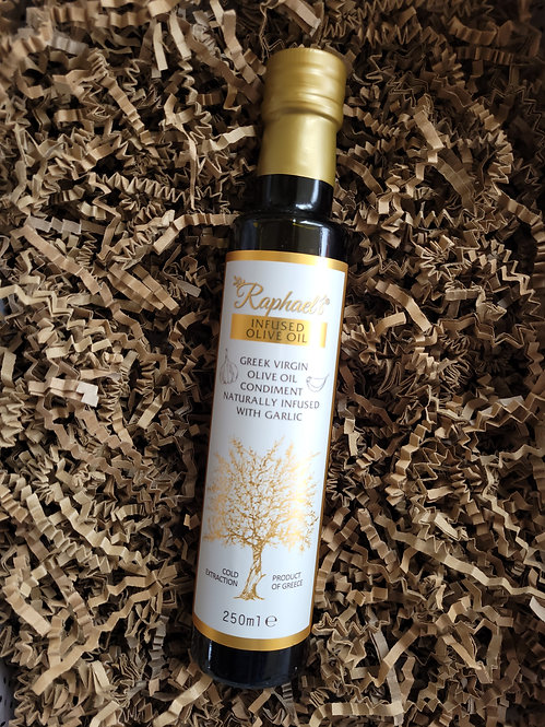 Raphael's Mediterranean Deli Products Olive Oil Infused with Garlic 250ml