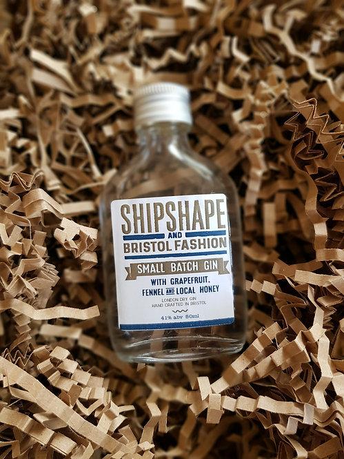 Shipshape & Bristol Fashion Mini Gin with Grapefruit, Fennel & Local Honey 50ml