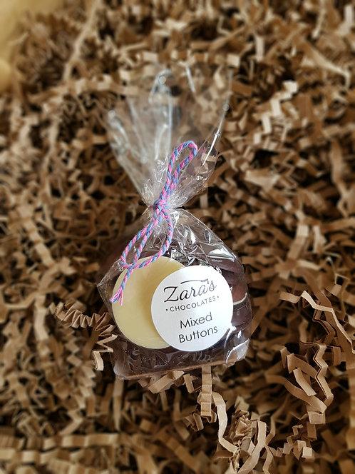 Zara's Chocolates Mixed Chocolate Buttons