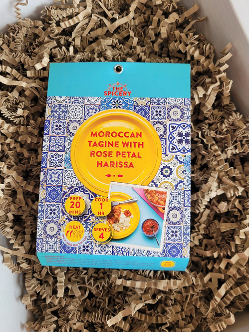 The Spicery Just add Easy Tagine Kit - Moroccan Tagine with Rose Petal Harissa