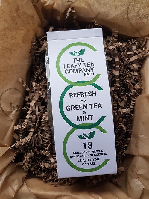The Leafy Tea Company Tea Bags 18 Green Tea and Mint
